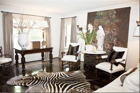 Zebra Living Room Decor by Lovely Neutrals And Timeless Zebra Rug Home Decor