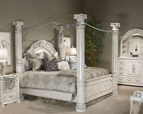 aico poster bedroom set monte carlo ii in silver pearl ai