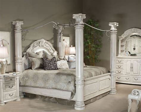 cal king bedroom sets furniture aico poster bedroom set monte carlo ii in silver pearl ai