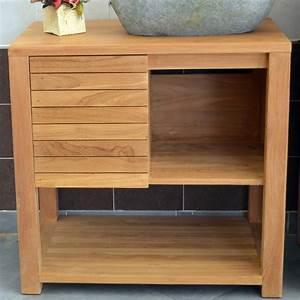 meubles sous vasque bois meuble salle de bain double With meuble lavabo bois massif 7 meuble sous vasque simple vasque en bois teck massif