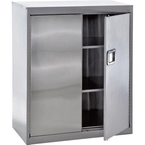 Sandusky Buddy Stainless Steel Storage Cabinet — 36inw X