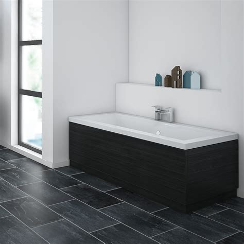 brooklyn black bath panel wood effect  sizes