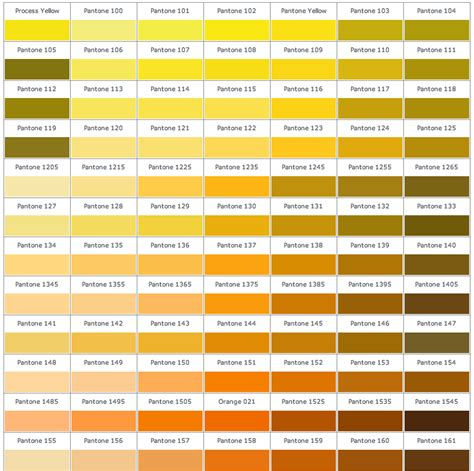 Golden Colour Chart by Design Context Design For Print And Web Istd Pantone