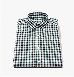 Men39s tailored forest green tattersall dress shirt 1468 for Blank label clothing