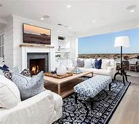 coastal living rooms Cape Cod Inspired Beach Cottage - Home Bunch Interior ...
