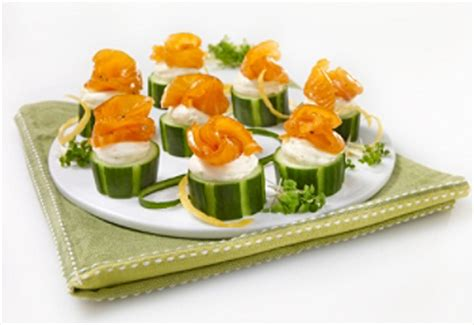 recipe smoked salmon and cucumber canapés saq com