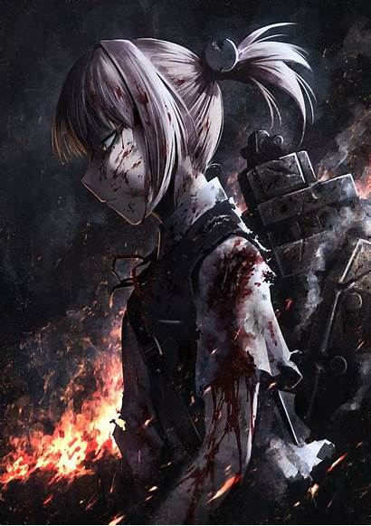 Anime Hellshock Kantai Hetza Shiranui Zerochan Dark