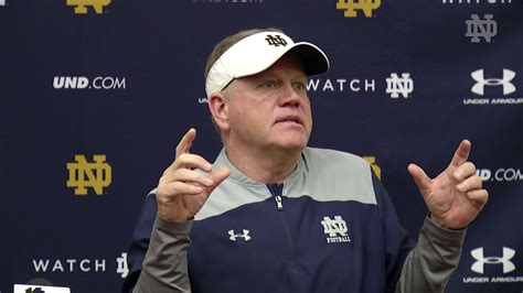 @ndfootball Brian Kelly Press Conference  Spring Practice