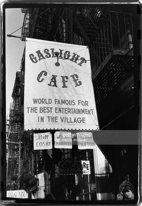 Sure, it feels like the green room for central casting for a hipster sitcom, laptops akimbo, and beards properly trimmed, but it is also the home of gaslights. Exterior view of the Gaslight Cafe , a coffee house and nightclub in...   Coffee house, Cafe nyc ...