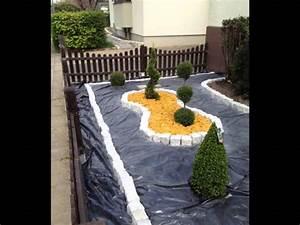 Kies Im Garten : vorgarten mit kies anlegen kunstrasen garten ~ Lizthompson.info Haus und Dekorationen