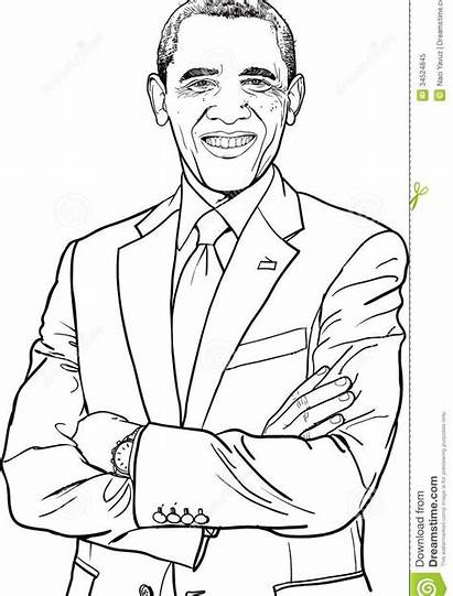 Coloring African American Pages Trump Printable Obama