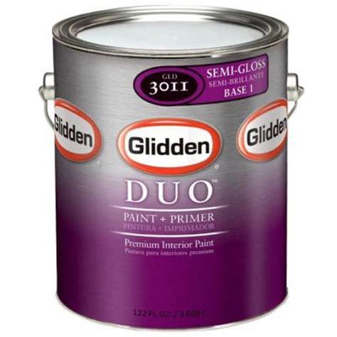 glidden duo 1 gal white semi gloss interior paint and