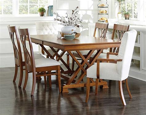 amish dining table with self storing leaves dining room tables with leaves stored in table rustic