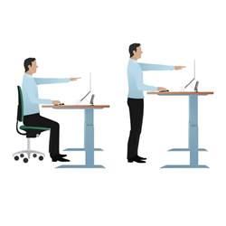 posturite deskrite 200 sit stand writing desk