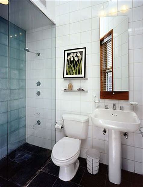 Shower Kits For Small Spaces  Small Whitetiled Remodeled