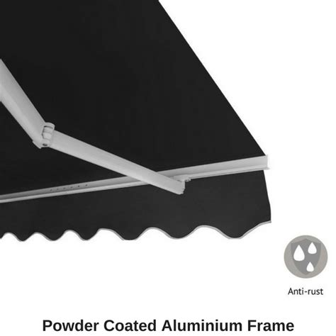 retractable outdoor folding arm awning sunshade canopy    hand crank ebay