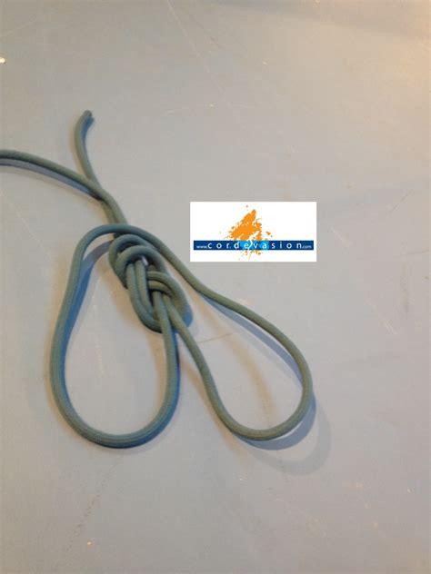 comment faire un noeud de chaise noeud de huit fusion cordévasion