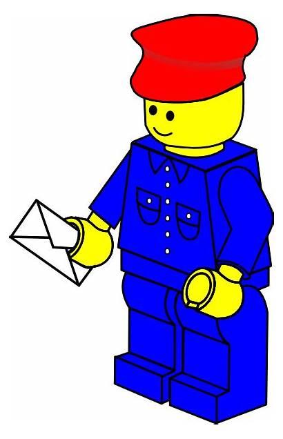 Lego Postman Town Clip Clipart Vector Svg