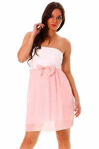 robe rose et blanche With robe bustier rose