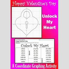 52 Best Valentine's Day Coordinate Graphs Images In 2019  Graph Paper, Graphing Activities