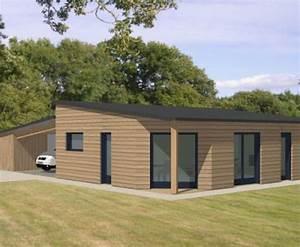 Plan maison ossature bois plain pied toit plat segu maison for Entree de maison design 6 maison ossature bois plain pied