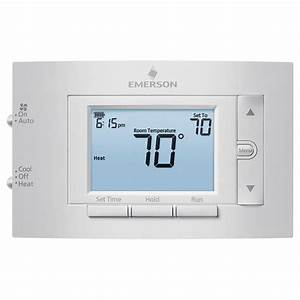 Programmable Conventional Digital Thermostat Hardwired Low