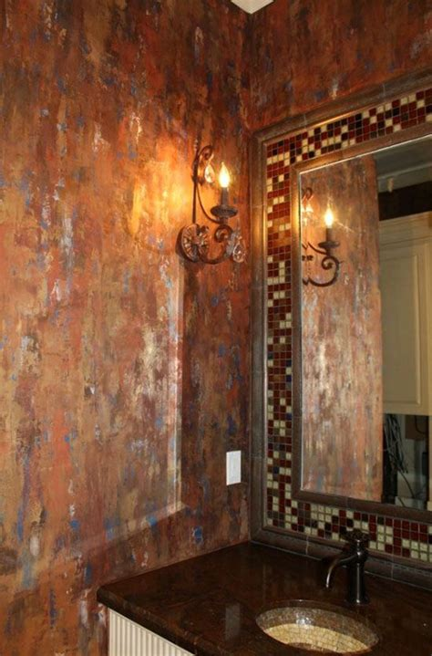 copper decor project ideas   modern masters cafe blog metallic plaster waterfall wall
