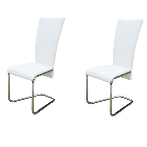 chaises blanches design la boutique en ligne 2 chaises ultra design blanches