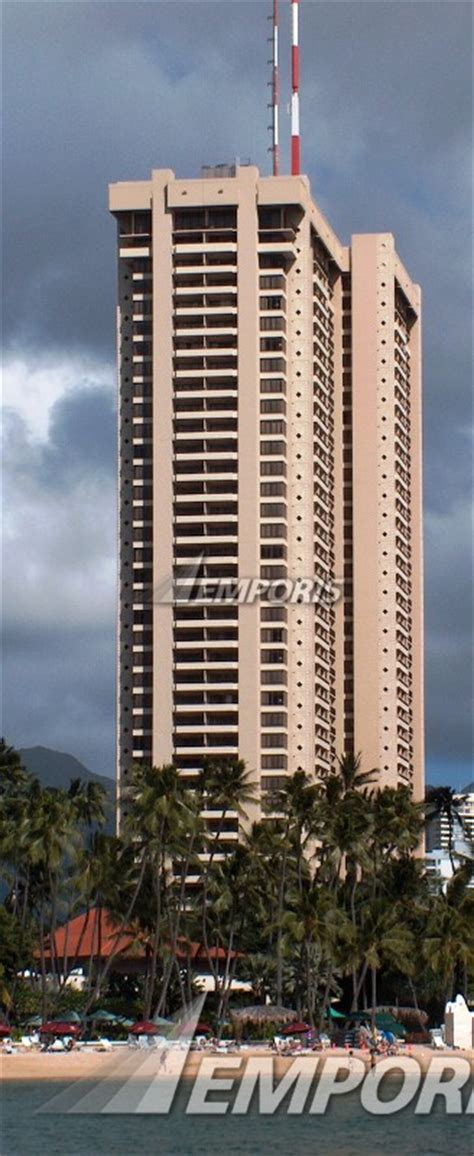 View from the lagoon, Tapa Tower, Honolulu  Image 323031