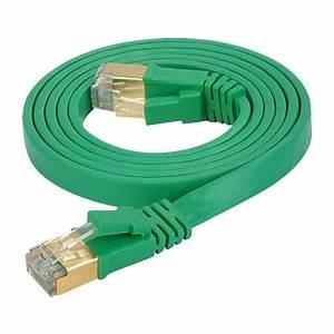 Lan Kabel Stecker : cat 7 flachkabel u ftp lan kabel rj45 stecker gr n ~ Orissabook.com Haus und Dekorationen