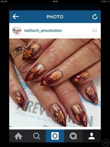 autum nails nail art gallery