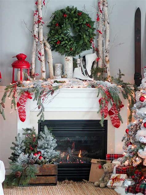 christmas mantel decor ideas  pinterest
