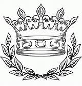 Coloring Crown King Queen Pages Pdf sketch template