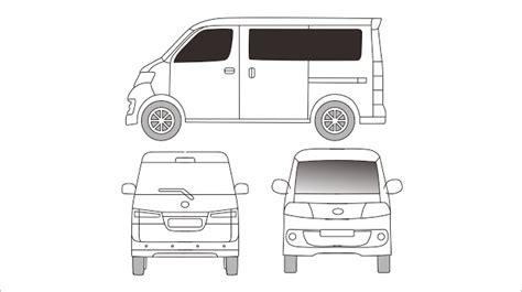 Daihatsu Luxio Backgrounds by Template Branding Daihatsu Luxio Grandmax Blueprint