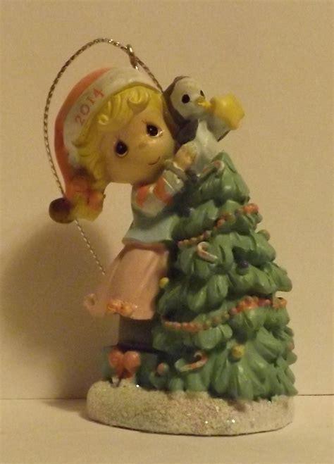 precious moments girl at christmas tree 2014 ornament