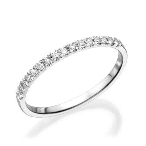 half eternity wedding band 14k white gold ring 0 12 ct