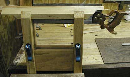 shop built  vise woodworking shop woodworking