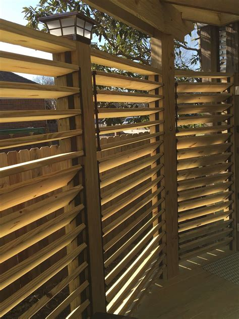 louvered deck railings  partial privacy  matthew