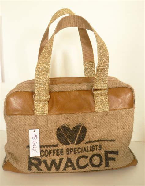sac bowling en sac de caf 233 recycl 233 et cuir gold toile jute et bowling
