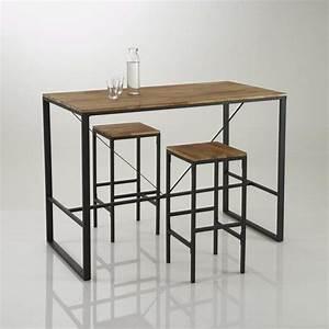 Table Haute En Bois : table haute table salle a manger maisonjoffrois ~ Dailycaller-alerts.com Idées de Décoration