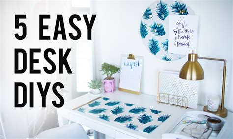 how to decorate a desk 5 easy diy desk decor organization ideas ann le youtube