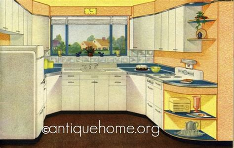 retro kitchen tiles 1947 suburban kitchen they must own a few acres look 1947