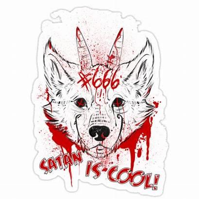 Cool Satan Sticker Stickers Redbubble Portfolio
