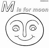 Moon Coloring Pages Smiling Colorings Funny sketch template