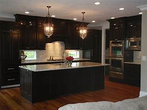 wood Floor with Dark Cabinets Flickr - Photo Sharing!