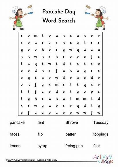 Pancake Tuesday Word Shrove Words Pages Coloring