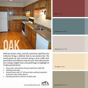 Color palette to go with our oak kitchen cabinet line for Kitchen cabinet trends 2018 combined with hockey wall art canvas