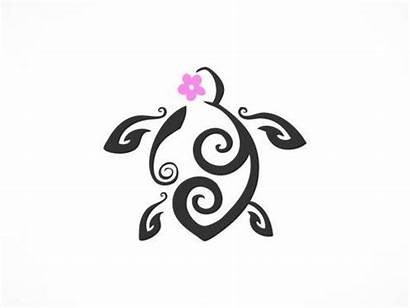 Turtle Tribal Tattoo Designs Tattoos Flower Stencil