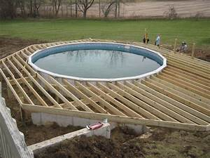 Above Ground Concrete Pool Deck Pool ~ Clipgoo