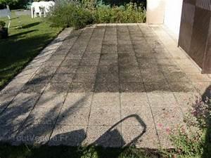 comment nettoyer une terrasse beton With nettoyage terrasse dalles gravillonnees